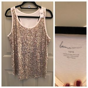 Lane Bryant Gold Sequin Tank
